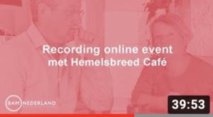Recording online event met Remmelt Meijer